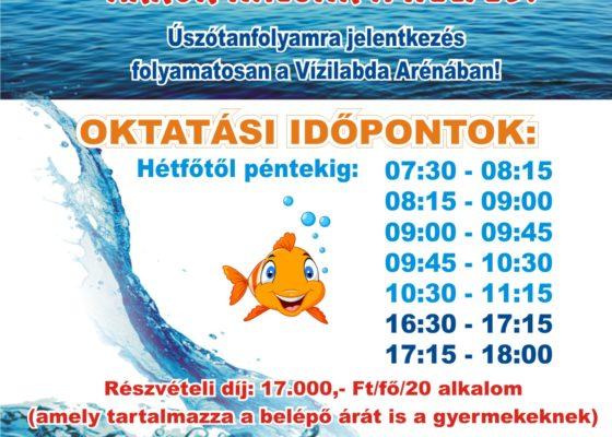 Nyári úszásoktatás